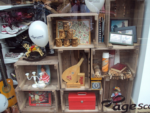 Work those fruit crates! A window display from Age Scotland's new charity shop on Byers Road in Glasgow.