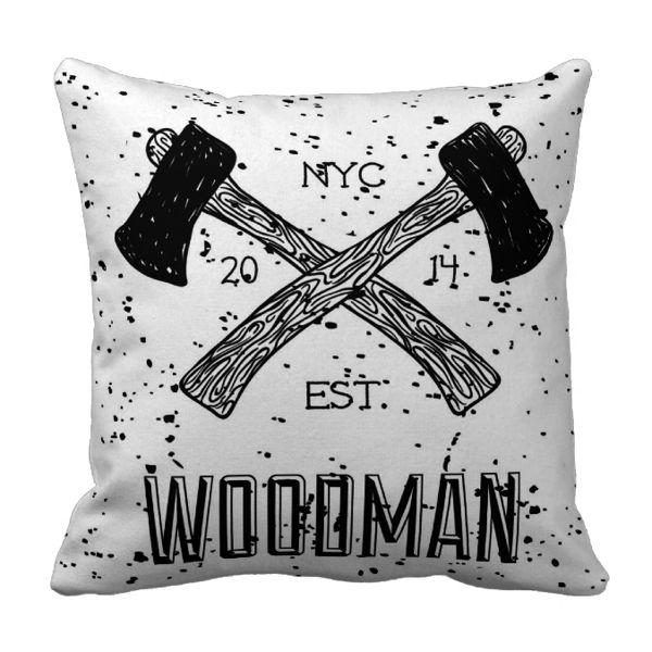 Poduszka drwal WOODMAN pod-6055   Poduszki ozdobne \ Hipster Poduszki ozdobne \ Pozostałe   ArtMini.pl