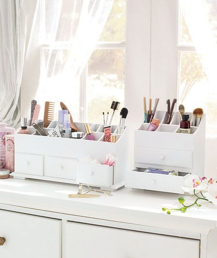 Best Cosmetics Images On Pinterest Makeup Acrylic Makeup - Cosmetic makeup organizer wood countertop organizer by lessandmore