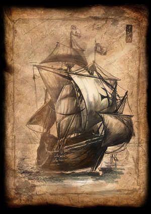 sailing ships drawing
