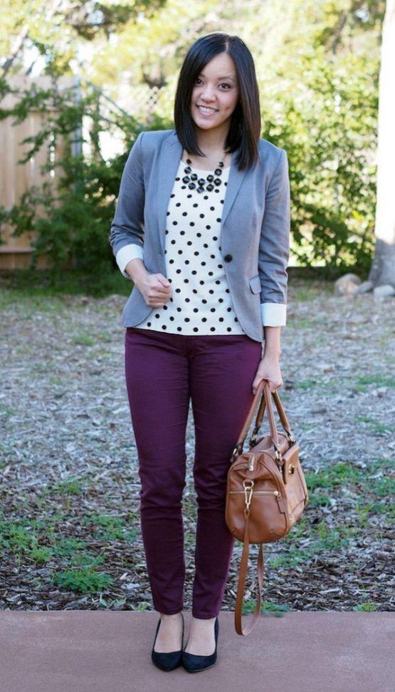 Best 25+ Purple pants outfit ideas on Pinterest   Plum ...