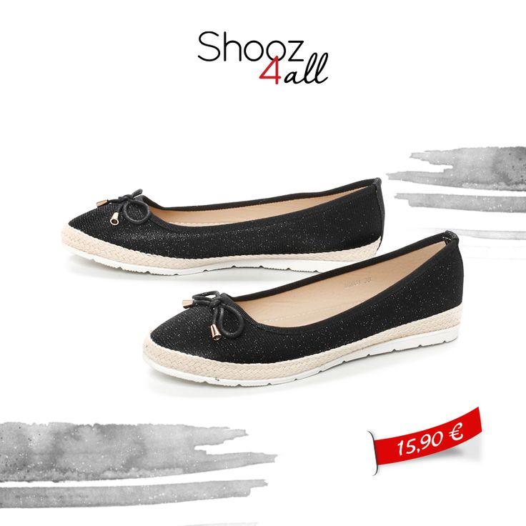 Μαύρες μπαλαρίνες σε μοντέρνα γραμμή για άνετες βόλτες! http://www.shooz4all.com/el/gynaikeia-papoutsia/mpalarines/mpalarines-se-monterna-grammi-m9901-detail #shooz4all #mpalarines