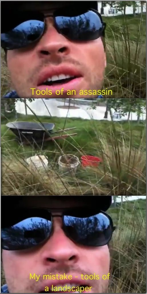 """Tools of an assassin. My mistake. Tools of a landscaper."" ||| Misha Collins"