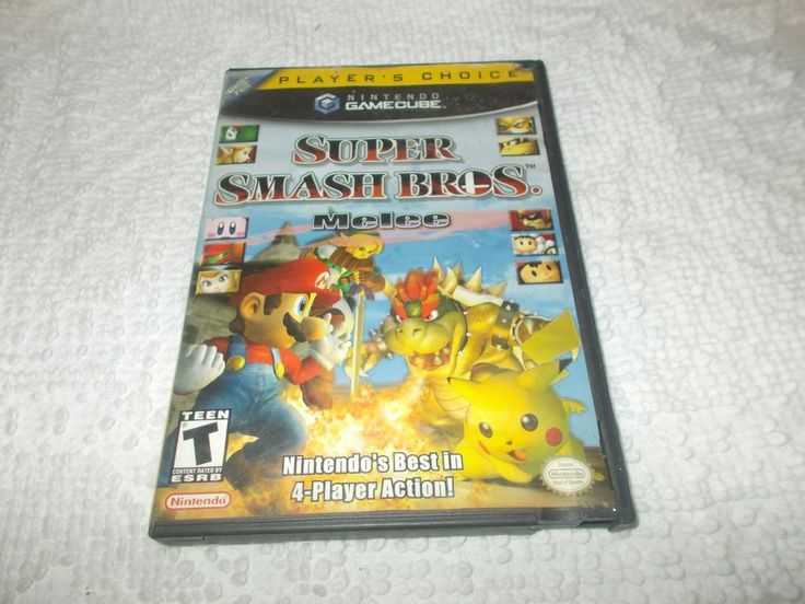 Super Smash Bros Melee Nintendo GameCube Players Choice Game Tested Works
