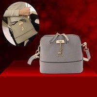 Wish | Accessories Women Messenger Bags Vintage Small Shell Leather Handbag Casual Crossbody Bag  US Stock