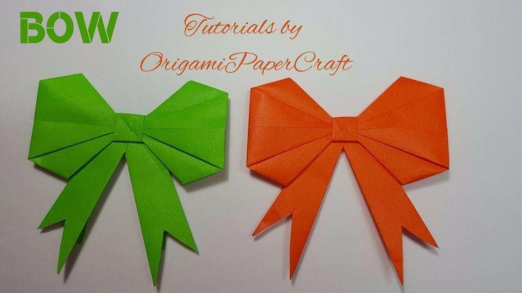 Origami: BOW/RIBBON | Origami/Paper Folding Tutorials | OrigamiPaperCraft |