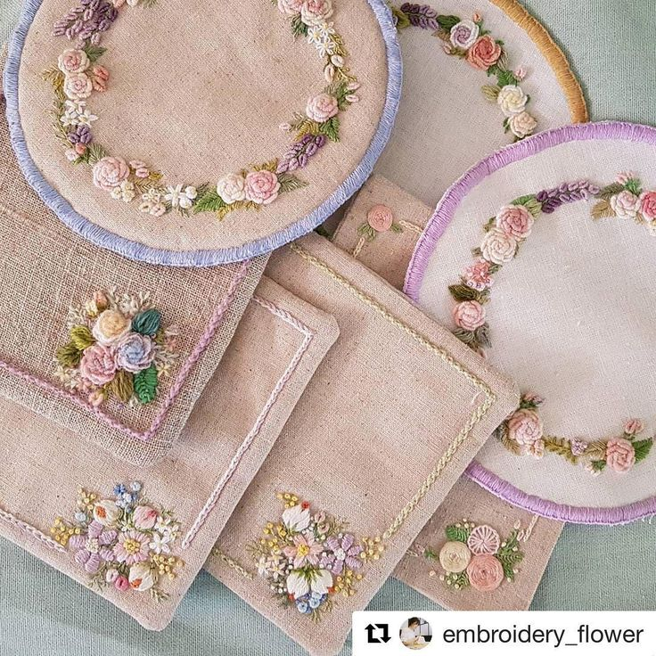 @embroidery_flower #needlework #handembroidery #ricamo #bordado #embroidery #broderie