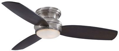Minka Aire Ceiling Fans Minka Aire Traditional Concept 3 Blade Flush Mount Ceiling Fan