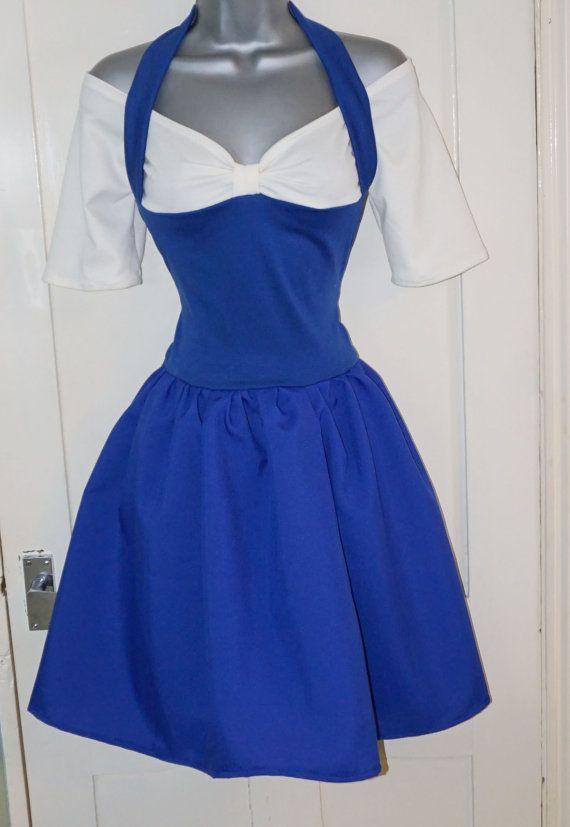 Adult Princess Belle Blue Provincial Dress Costume by LolaNovaUK                                                                                                                                                     More