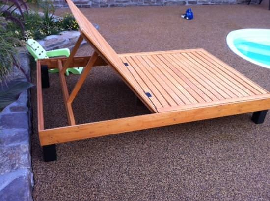 how to build a reclining pallet lounger