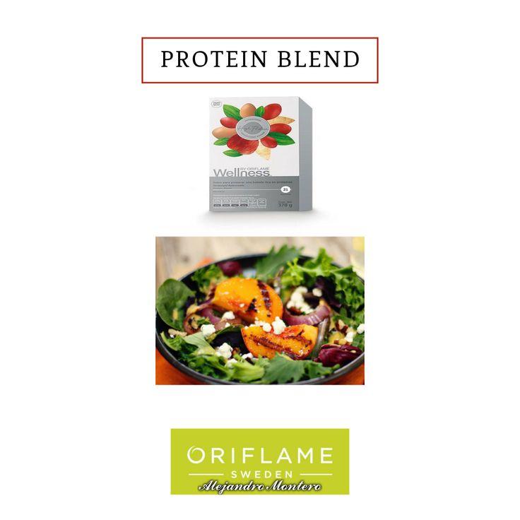 Proteína en polvo, sin sabor, que complementa la dieta con la cantidad de aminoácidos esenciales (procedentes de la leche, el huevo y los guisantes), y la dosis de fibra (de manzana, escaramujo y remolacha azucarera) que el organismo necesita. Sin azúcares añadidos. Apto para mezclar con líquidos y con comidas. . . . #oriflame #wellness #beauty  #diet #natural #balance #shake #tendercare #oriflameonme #agreeoriflame #wellnessbyoriflame #facebook #planoly #proteinblend #belleza #salud…
