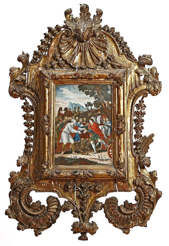 Mejores 39 im genes de art auction en pinterest - Pintura dorada para madera ...