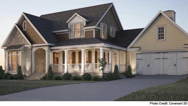 cottage farmhouse with wraparound porch. love!