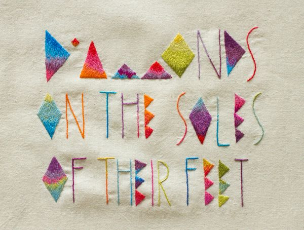 embroidery + typography
