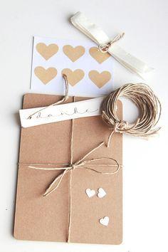 Do it yourself Kit Hochzeit - Kraftpapier von reflect.photographie & crafts auf DaWanda.com