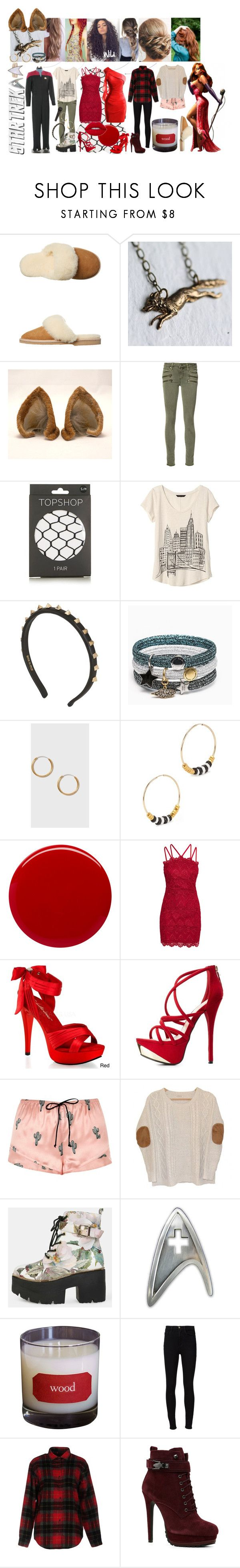 """Tara London"" by rainbowfashionunicorn ❤ liked on Polyvore featuring UGG, And Mary, Paige Denim, Topshop, Banana Republic, Valentino, Marc Jacobs, Alice Menter, Margaret Dabbs and Pleaser"