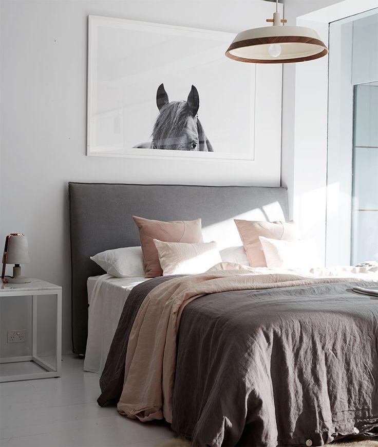 Bronte Slipcover Linen Bed Head And Headboard Ash Grey