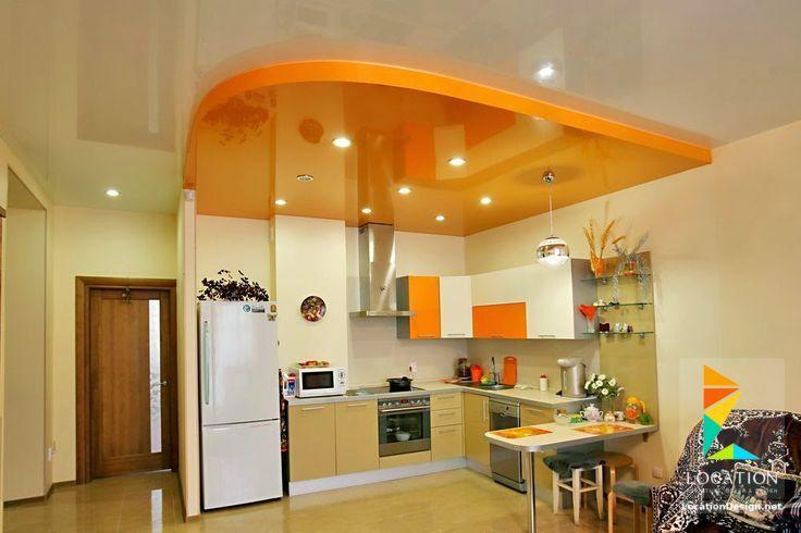 ديكورات جبس اسقف راقيه 2018 تصميمات جبسيه للشقق المودرن لوكشين ديزين نت Kitchen Ceiling Design Ceiling Design Modern Kitchen Ceiling