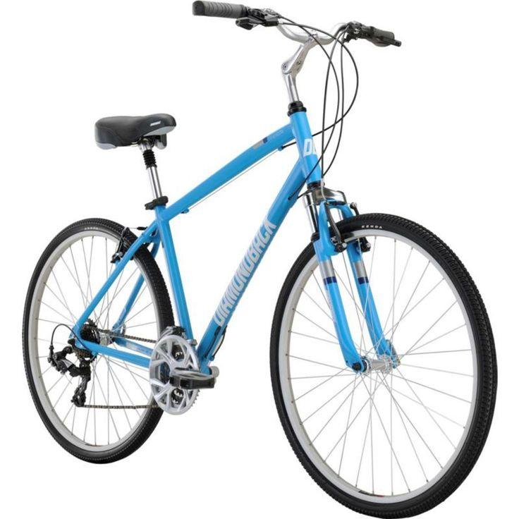 Diamondback Adult Edgewood Hybrid Bike, Blue