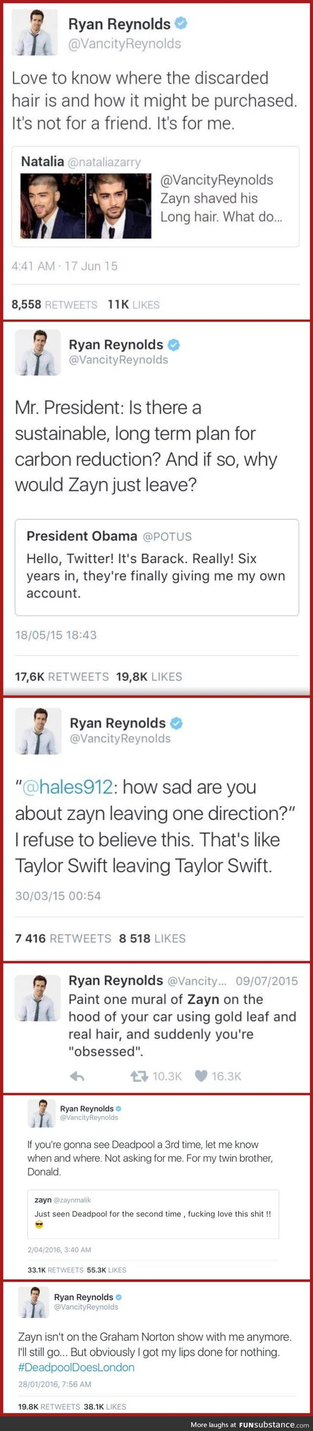 Ryan Reynolds and Zayn