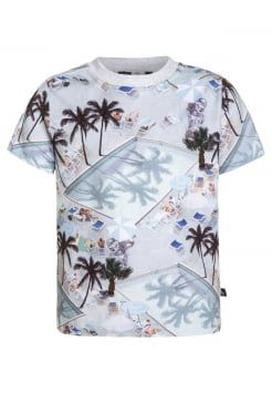 Molo - REY - T-shirts med print - light blue