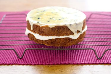 Lime passionfruit cake