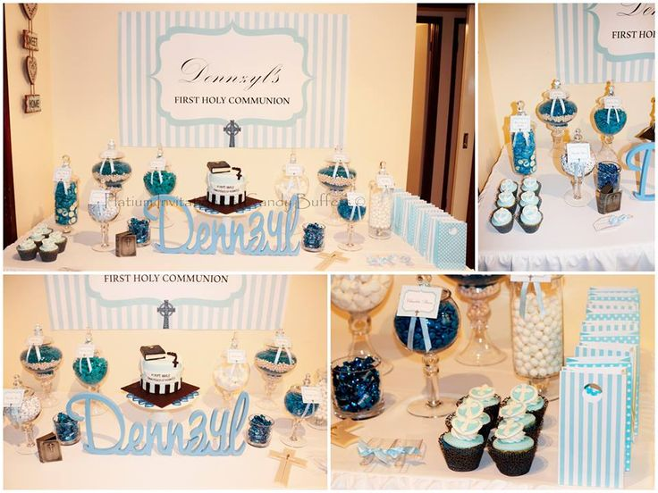 Holy Communion Candy Buffet All Styling By: Platinum Invitations & Candy Buffets.