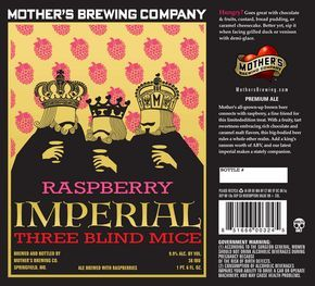 Raspberry Imperial Three Blind Mice Ale!