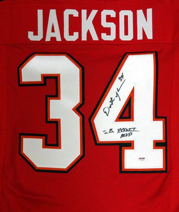 """Dexter Jackson Autographed Red Tampa Bay Buccaneers Jersey """"SB XXXVII"""" PSA/DNA"""