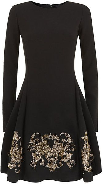 Evening and Weekend Fashion - Date Night Dinner & Dancing - Cavalli Embellished Skater Dress - Lyst