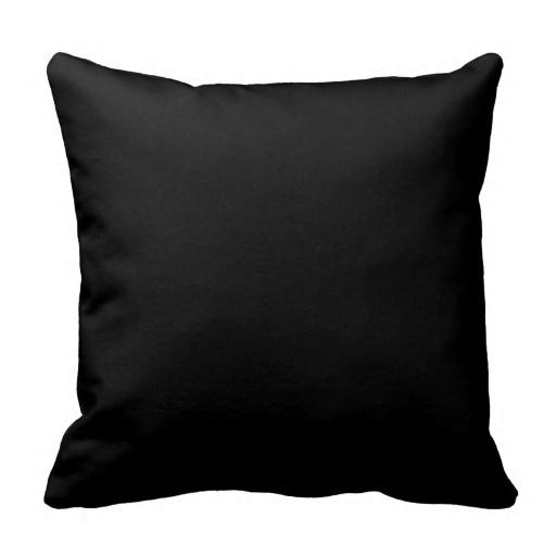 Simply Black Throw Pillows
