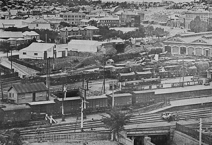 Original site of Geelong rail yards, early 1900s'?