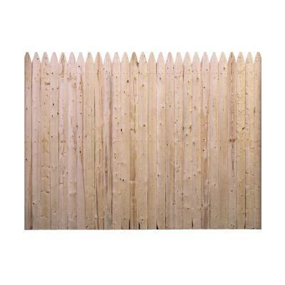 Barrette 6 ft. x 8 ft. Spruce Pine Fir Flat Top Stockade Fence Panel-73000470 - The Home Depot