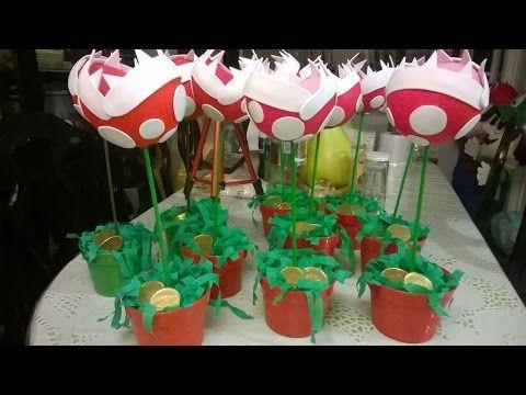 DIY Planta carnívora de Mario bros para centro de mesa!! - https://www.youtube.com/watch?v=hrIqE_feWLc
