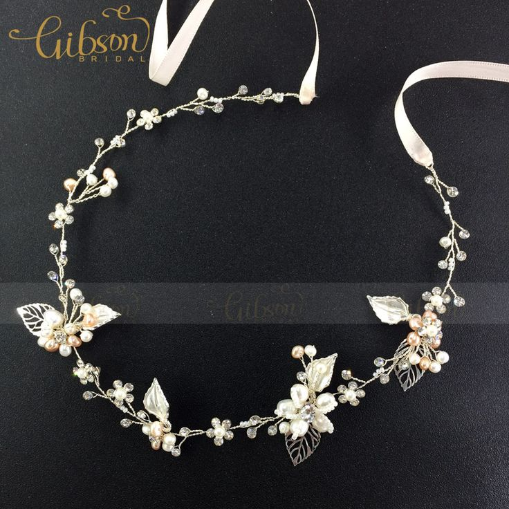 Free Shipping Vintage Gold and Silver Hair Vine Freshwater Princess Halo Headbands