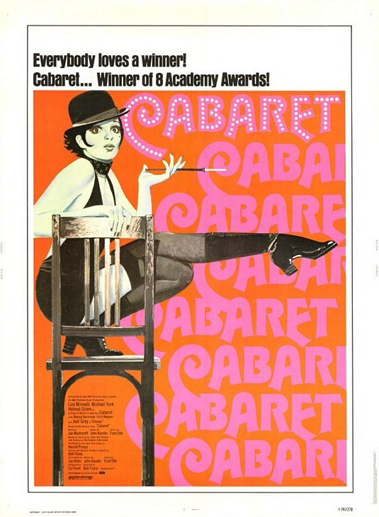 """""""Cabaret."""" Oh Liza Minnelli! Such a ridiculous movie with lots of singing and second-hand awkwardness."""