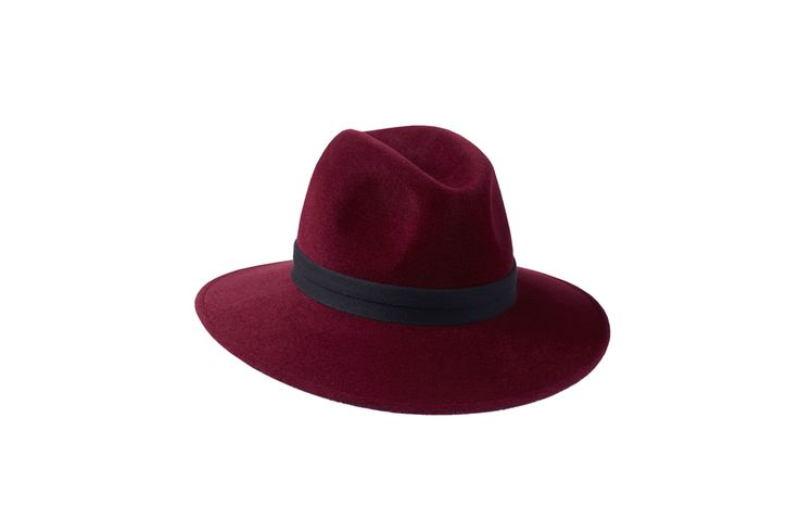 The Willow Fedora Collection | Burgundy | Double Black Herringbone Band  www.penmayne.com #fedora #hats #accessories