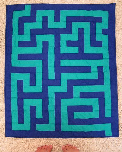 maze quilt: Quilt Inspirations, Labyrinth Quilts, Quilts Mazes, Quilting Craziness, Maze Quilts, Modern Quilts, Dimentional Quilts