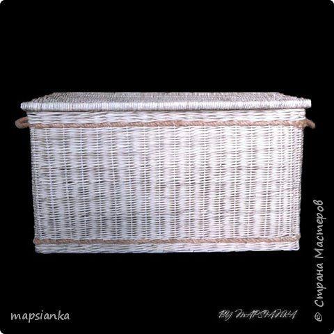 """MK """"Сундук с канатом"""" из газетных трубочек фото 1"""