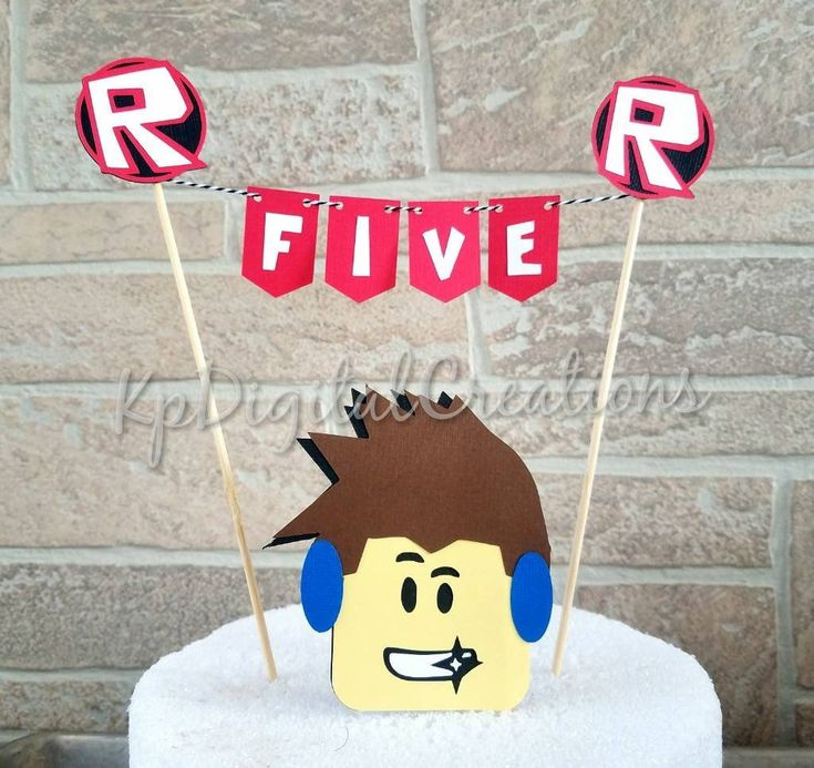 Roblox cake topper, Roblox party supplies, Roblox birthday, Roblox cake banner, Roblox birthday decorations, Roblox birthday banner