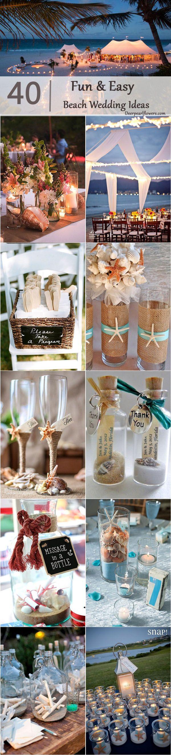 107 best wedding decoration hochzeitsdekoration images on 40 fun and easy beach wedding ideas for 2018 junglespirit Images