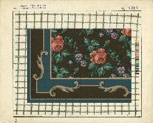Tons of mini rug patterns not a blog but a library of needlework books that are past their copy right dates.