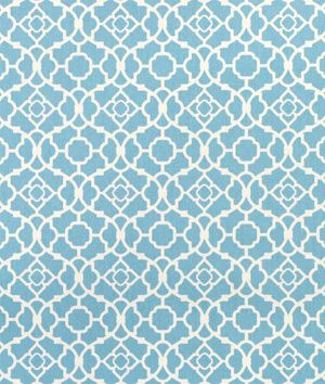 """Waverly Lovely Lattice Azure Fabric  $15.15per yard (1 to 9 yards)  Material: 100% Cotton Sateen  Width: 54""""  Horizontal Repeat: 4.5""""  Vertical Repeat: 4.5"""""""