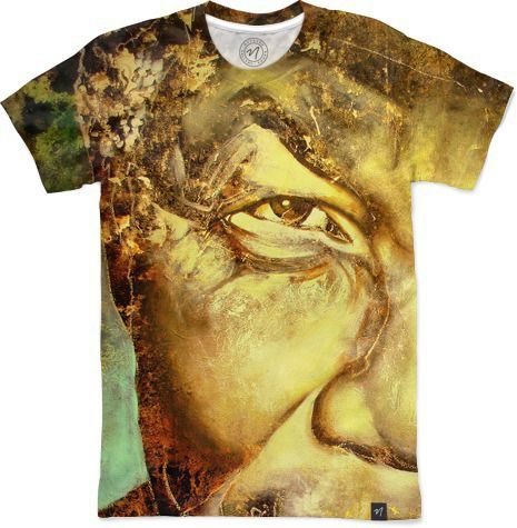 Madiba Eyes by Brian Rolfe Art - Men's T-Shirts - $49.00