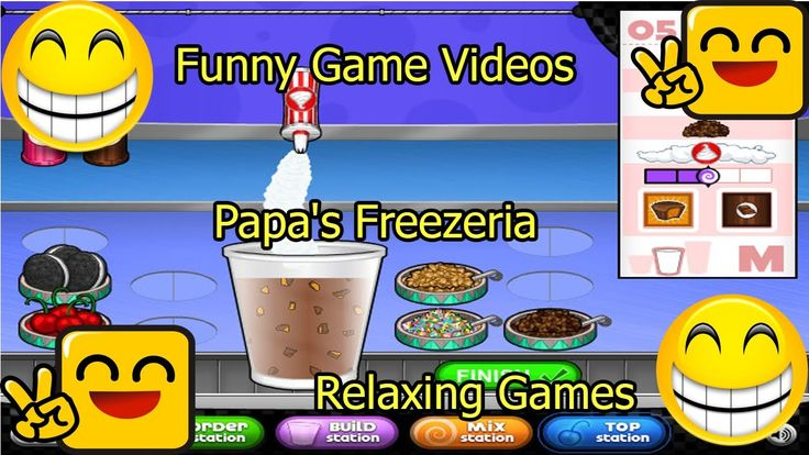 Funny Game Videos | Relaxing Games | Papa's Freezeria # 13