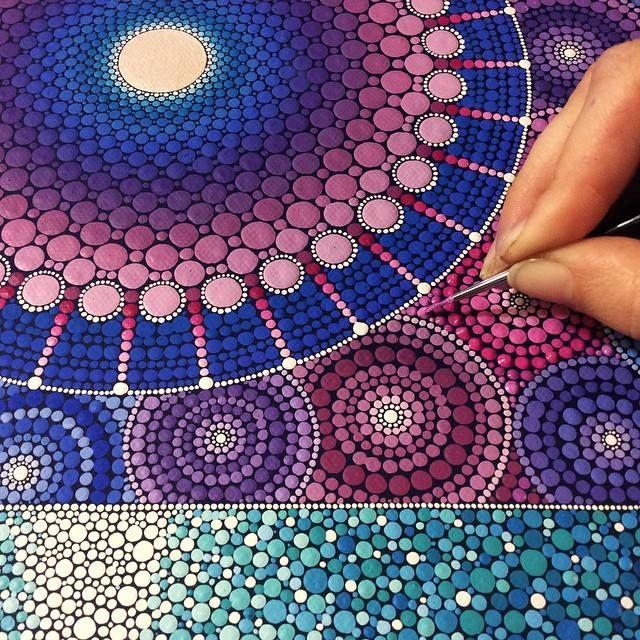 Large-scale mandala by by Elspeth McLean