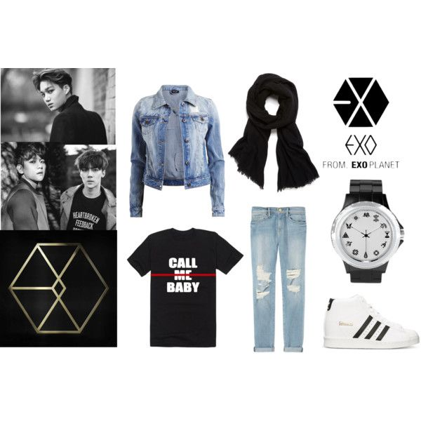 {hijab style} CALL ME EXO-L! by amandavicha on Polyvore featuring VILA, Frame Denim, adidas and Helmut Lang