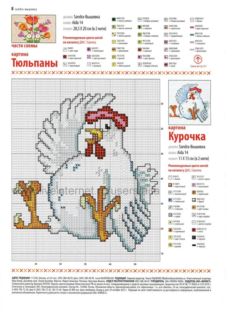 chicken cross stitch pattern