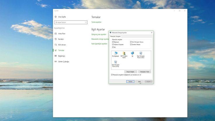 Windows 10 masa üstü simge ayarları
