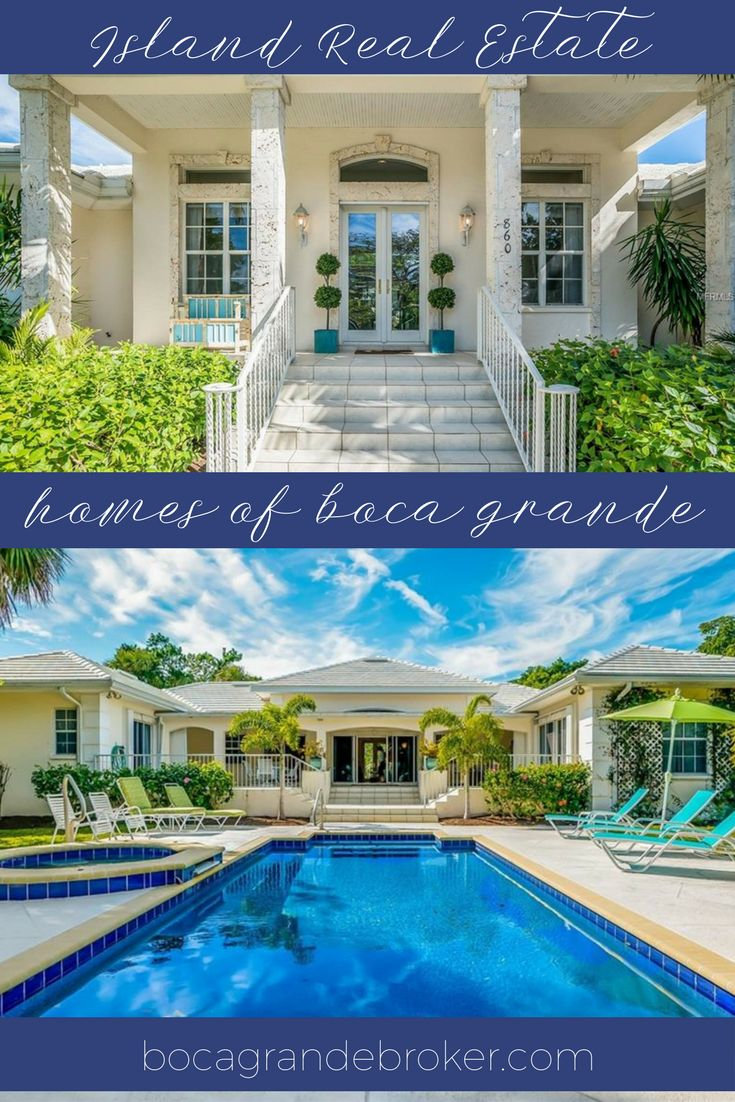 """Fabulous home for entertaining """"Boca Grande Style"""". Perfectly positioned to take advantage of the morning sun. The property consists of 3 lots in the village. As you enter the front dooryour eyes are drawn to the beautiful pool and patio. 860 Palm Ave,Boca Grande,FL MLS# D59227573  #bocagrande #luxury #realestate #realtor #luxuryrealestate"""